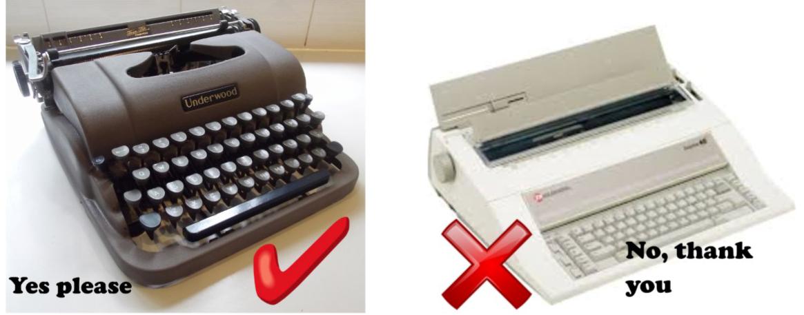 Typewriter amnesty! We need your typewriters!
