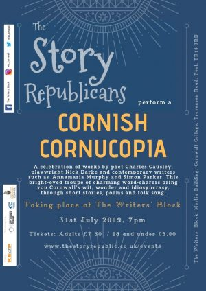 Cornish Cornucopia with The Story Republicans at The Writers' Block