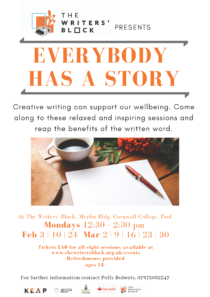 Adult Creative Writing - Everybody has a Story