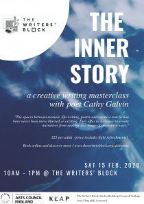 Life Writing Masterclass with Cathy Galvin